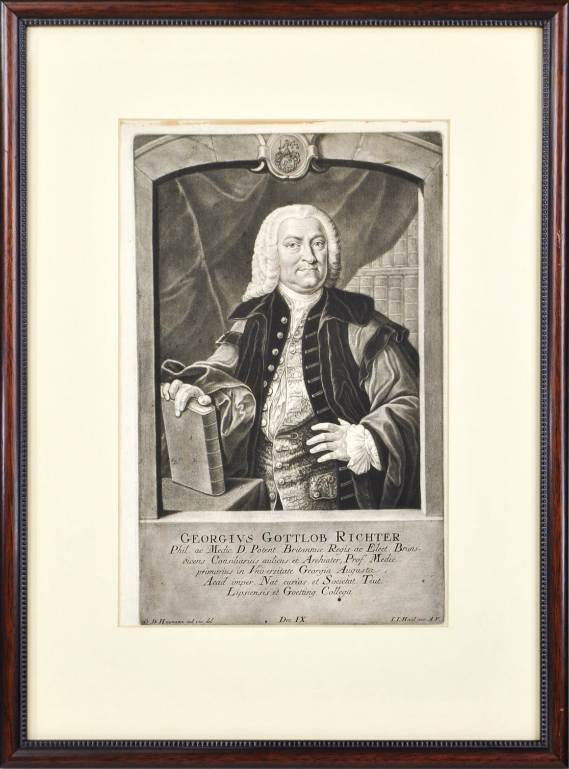 Georgius Gottlob Richter (1694-1773) Antique Medical Doctor Print