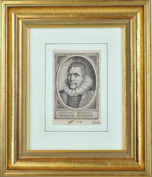 Johannes Heurnius (1543-1601) Antique Medical Doctor Print 1614