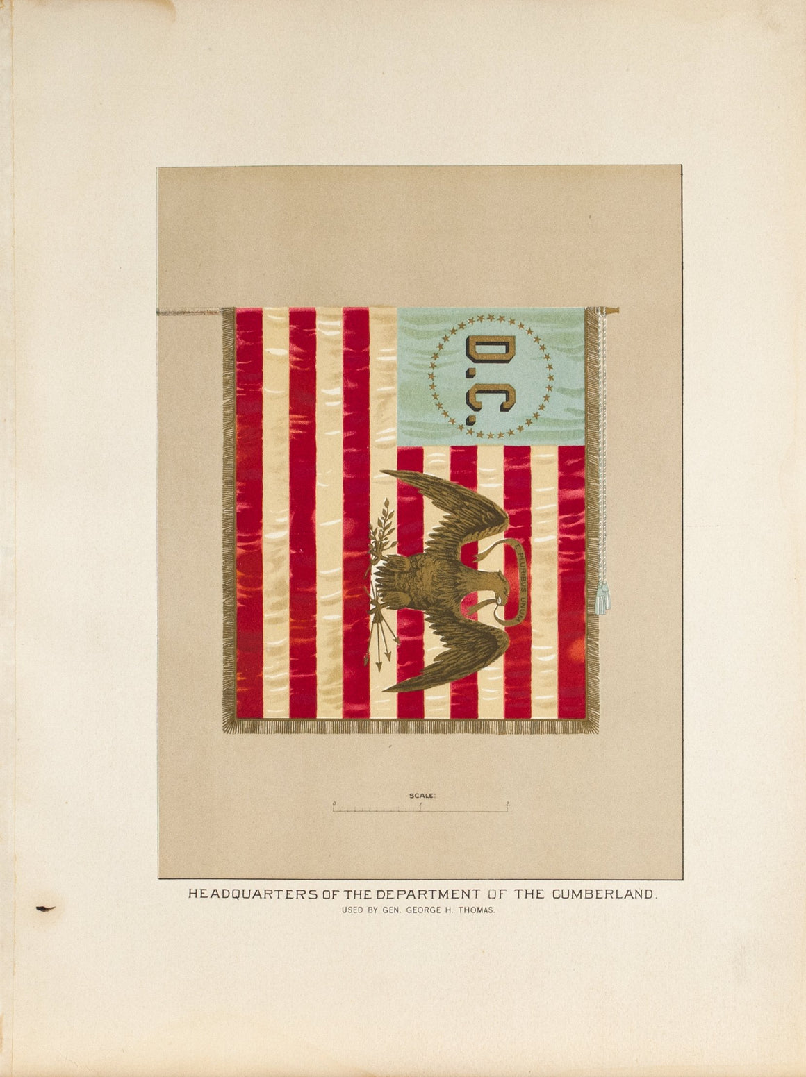 Department of the Cumberland Thomas Antique Civil War Union Army Flag Print 1887
