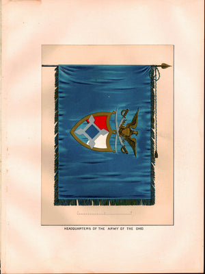 Army of the Ohio Antique Civil War Union Army Flag Print 1887