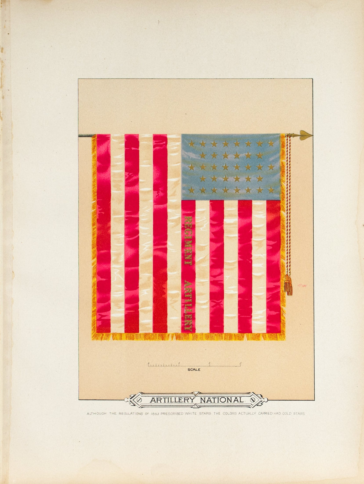 Artillery National Antique Civil War Union Army Flag Print 1887