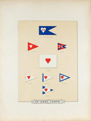 24th Army Corps Antique Civil War Union Army Flag Print 1887 A