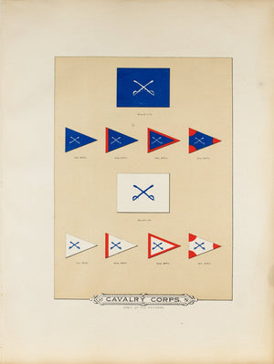 Cavalry Corps Antique Civil War Union Army Flag Print 1887 B
