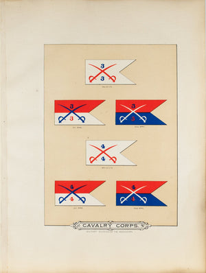 Cavalry Corps Antique Civil War Union Army Flag Print 1887 D