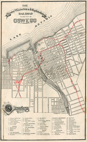 1890 Rome Watertown Ogdensburg Railroad  - Oswego