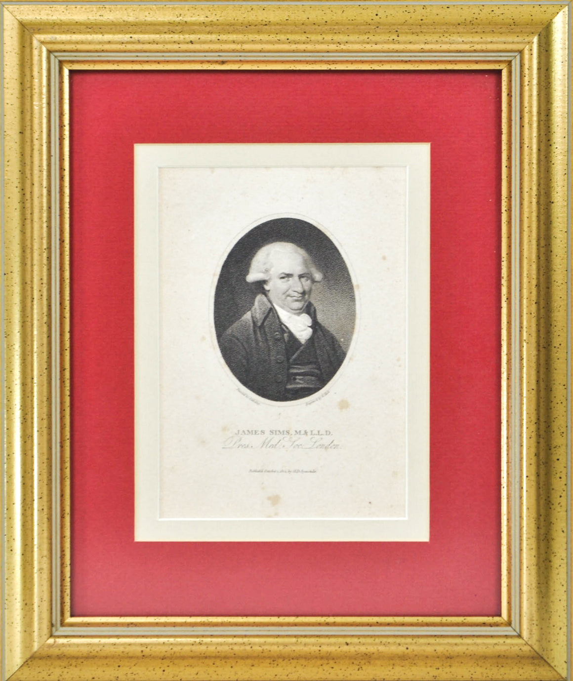 James Sims M.&L.L.D (1741-1820) Antique Medical Doctor Print 1804