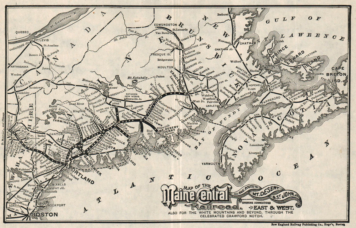 1890 Maine Central Railroad
