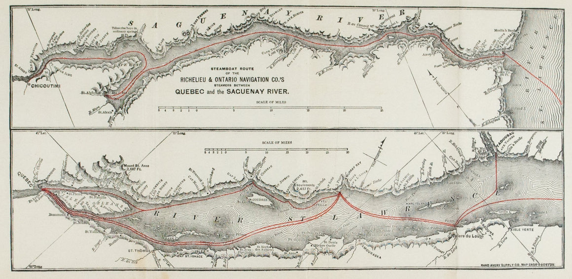1890 Steamboat Route of the Richelieu & Ontario