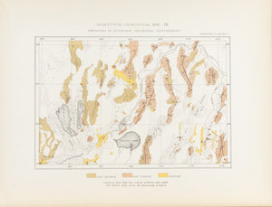 1870 Analytical Geological Map XII - Clarence King