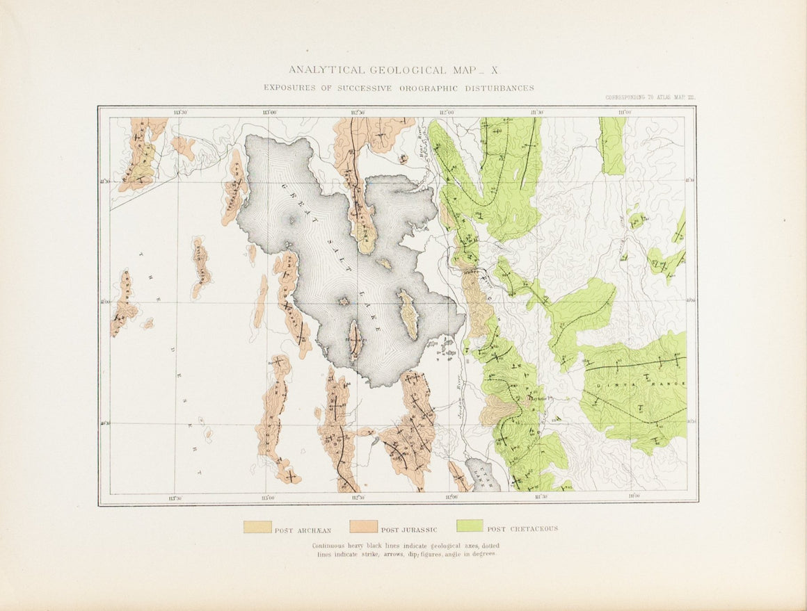 1870 Analytical Geological Map X - Clarence King