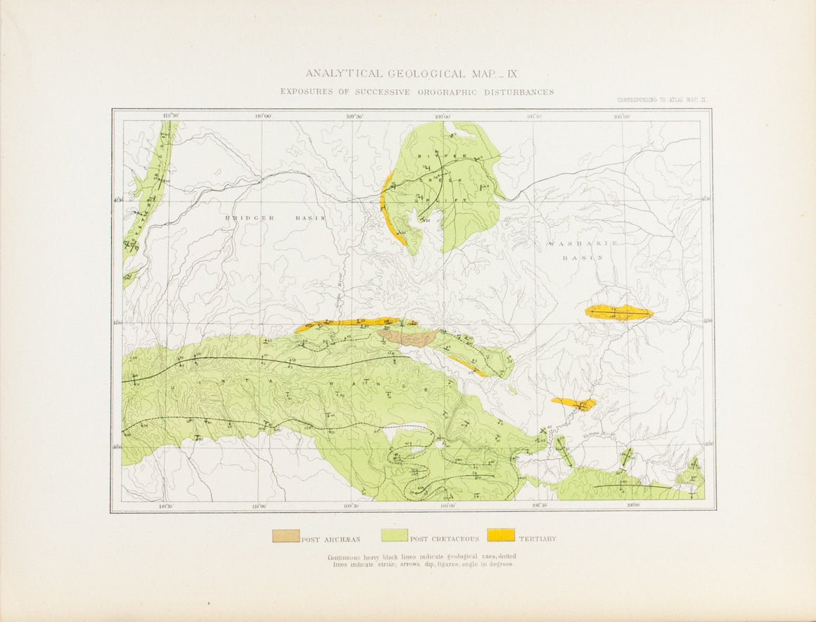 1870 Analytical Geological Map IX - Clarence King