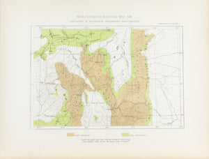 1870 Analytical Geological Map VIII - Clarence King