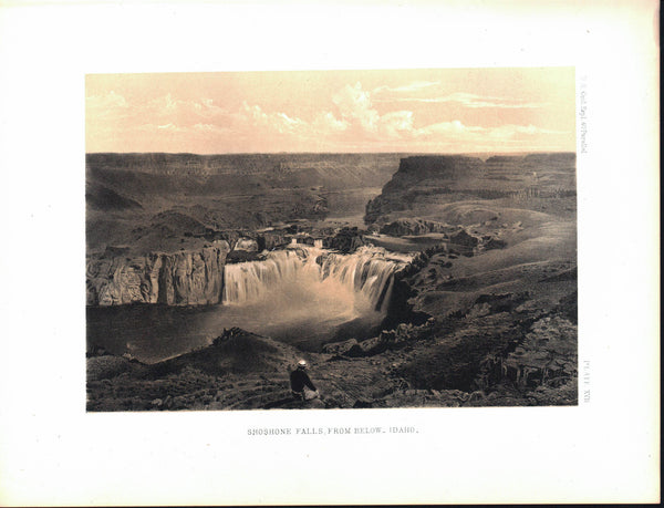 Shoshone Falls Idaho Antique Nature View Timothy O'SullivanPrint 1870