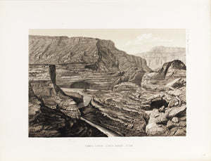 Yampa Canyon Uinta Range Utah Antique View Print 1870