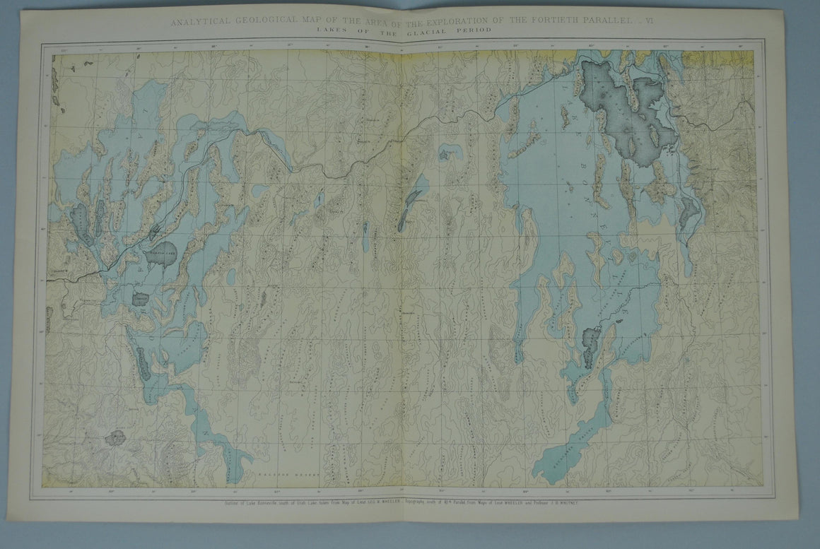 1870 Analytical Geological Map VI - Clarence King
