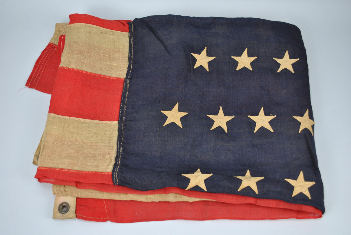 Antique 45 Star United States American Flag 1896 to 1908 Stitched Linen 85x81in