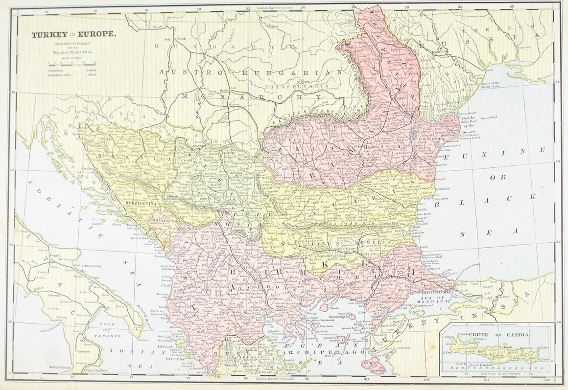 1887 Turkey in Europe Greece - Cram