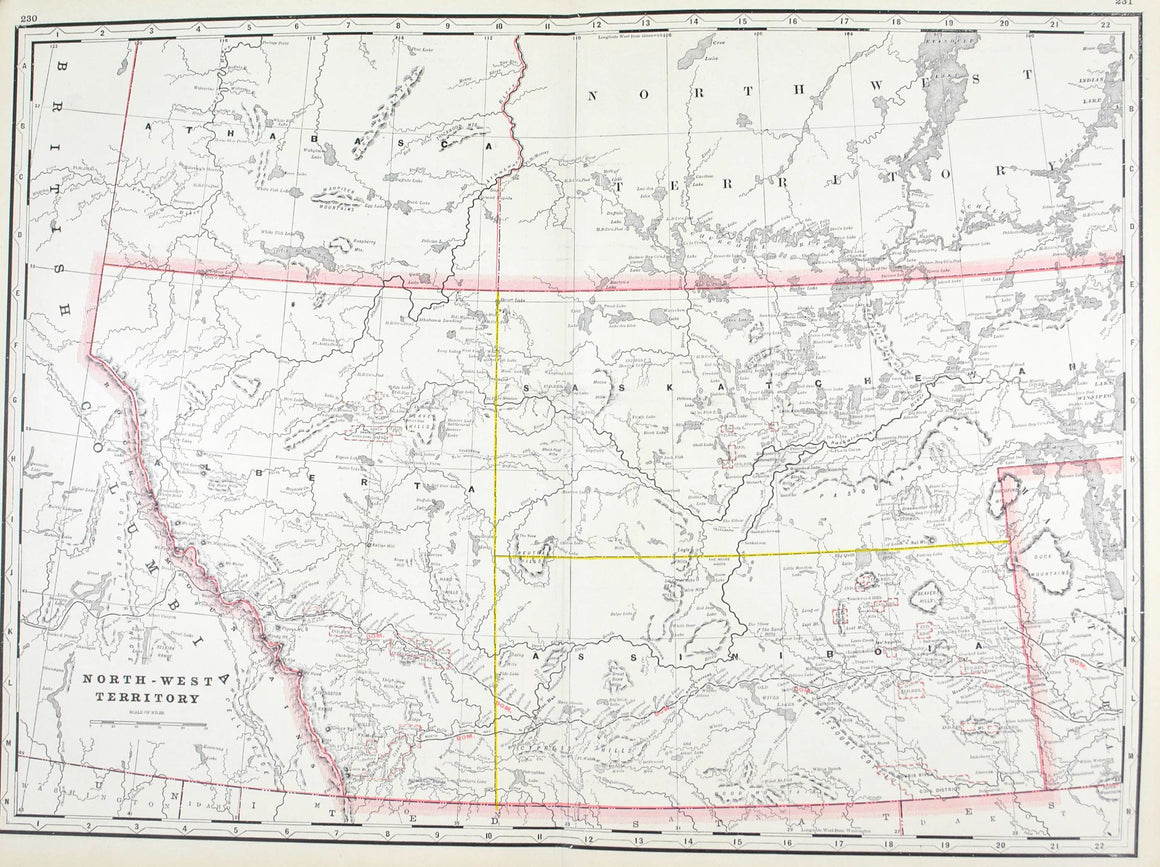 1887 North-West Territory Canada - Cram