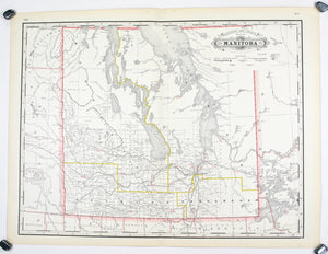 1887 Railroad and County of Manitoba - Cram