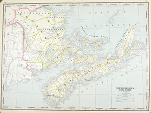 1887 New Brunswick and Nova Scotia - Cram