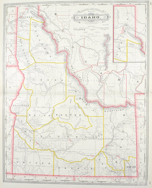 1887 Railroad and County Map of Idaho