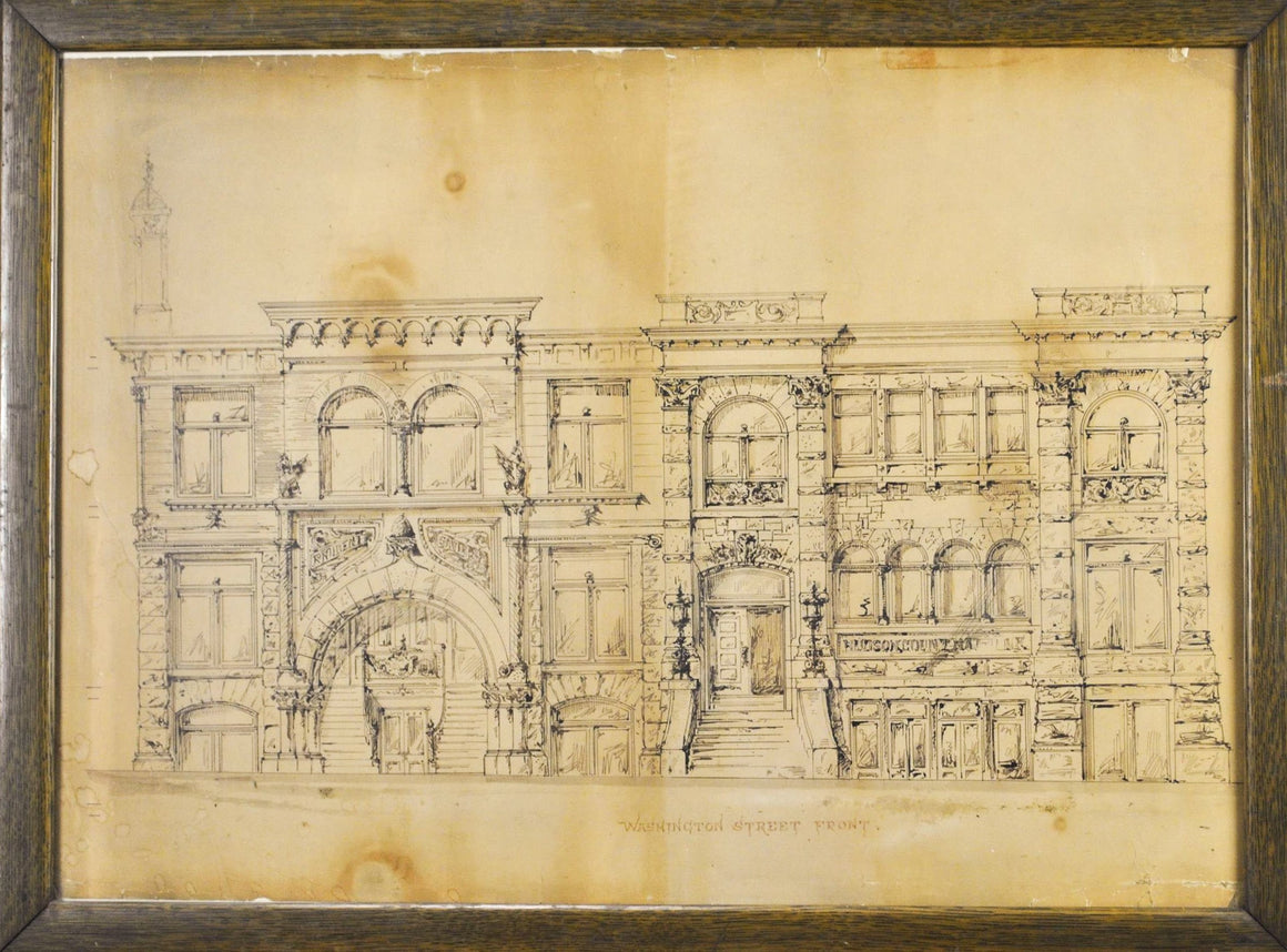 Washington Street Front - Architectural Drawing