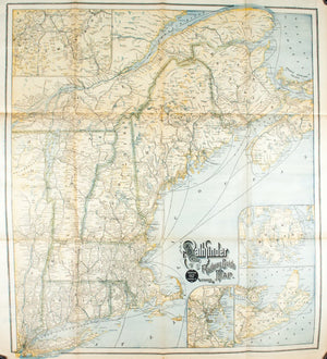 1890 ABC Pathfinder Railway Guide Map