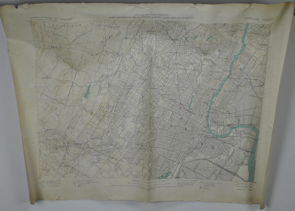 1929 Newark New Jersey - Army Map Service