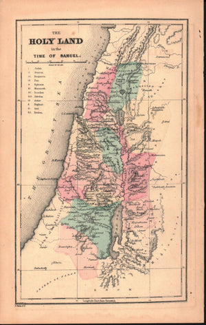1870 The Holy Land in the Time of Samuel - E Wells