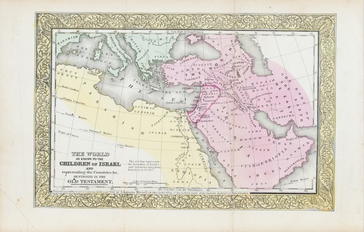 1849 The World as Known to the Children of Israel - S Mitchell
