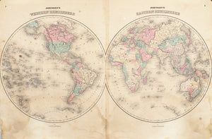 1860 Eastern & Western Hemisphere - Johnson