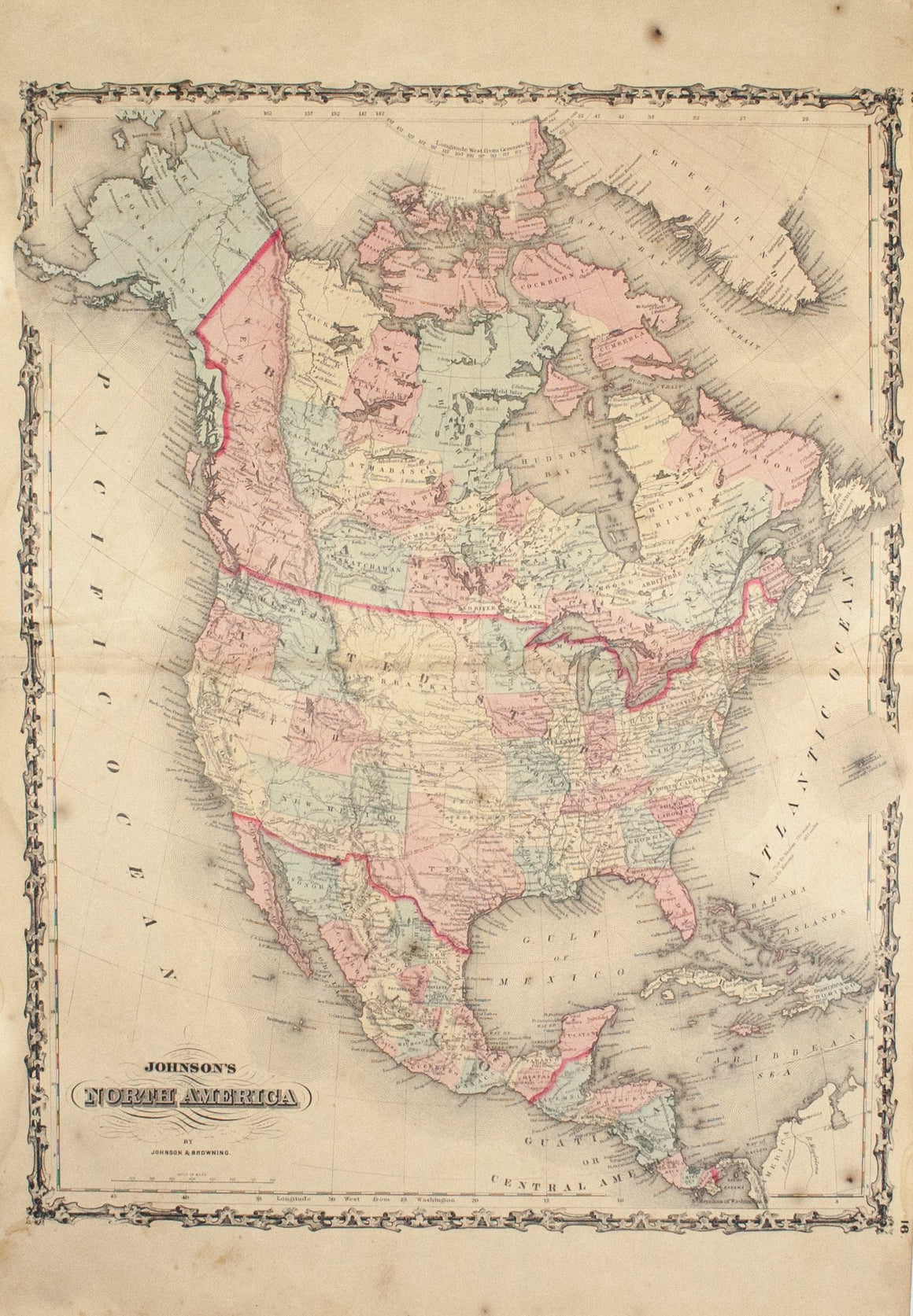 1860 North America - Johnson
