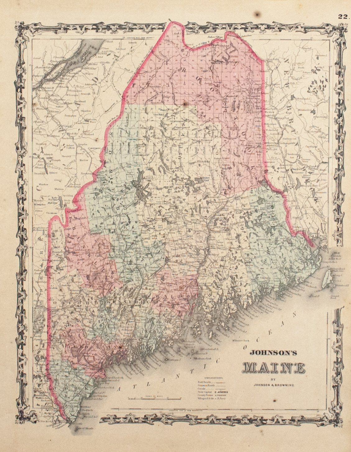 Maps - United States - New England - Historic Accents