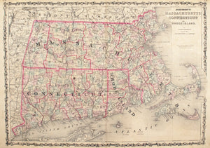 1860 Massachusetts, Connecticut and Rhode Island - Johnson
