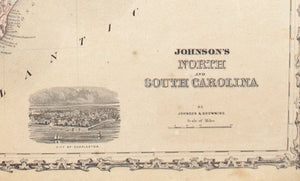 1860 North and South Carolina - Johnson