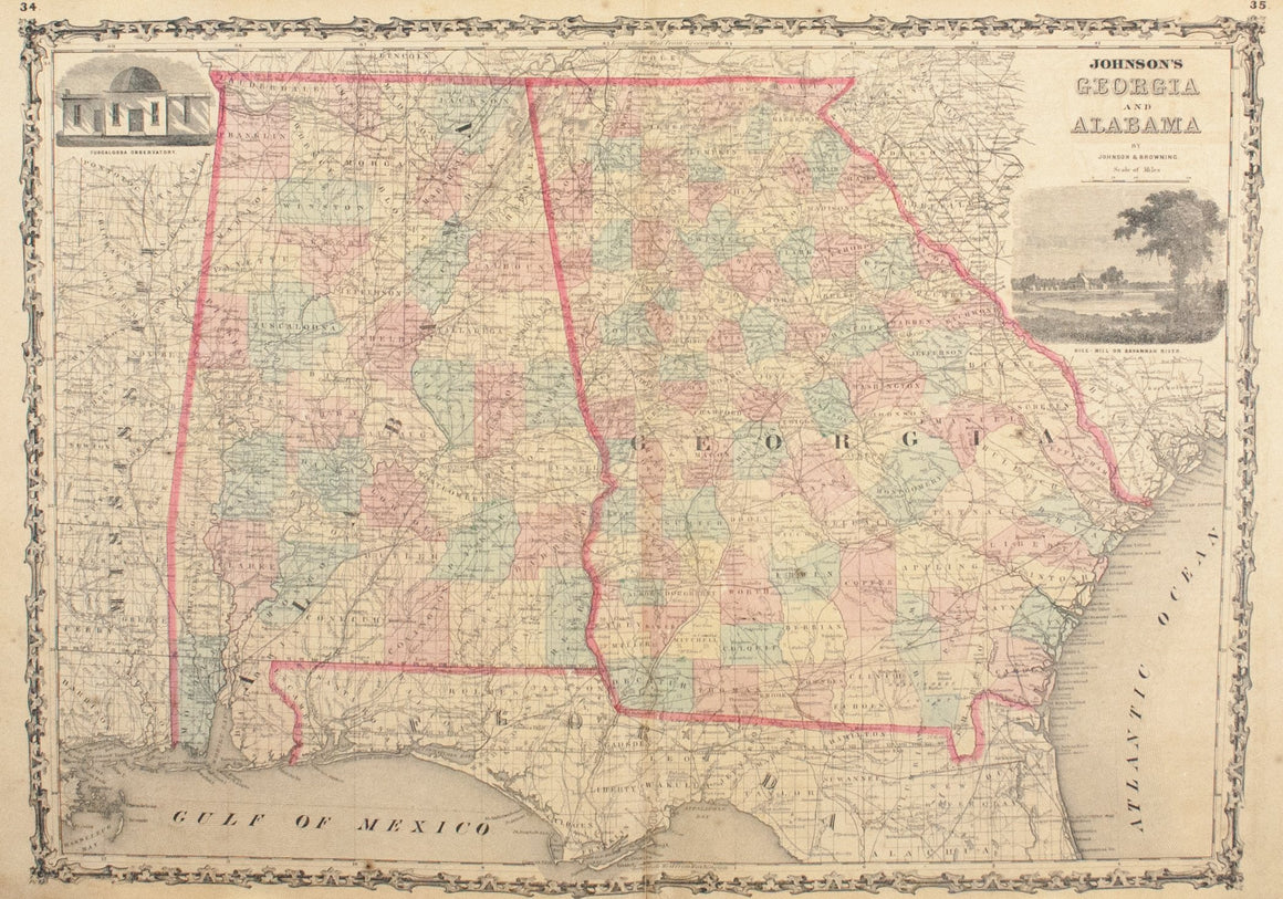 1860 Georgia and Alabama - Johnson