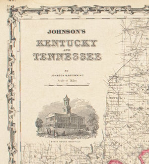 1860 Kentucky and Tennessee - Johnson