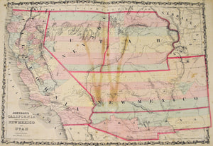 1860 California New Mexico Utah Territory - Johnson