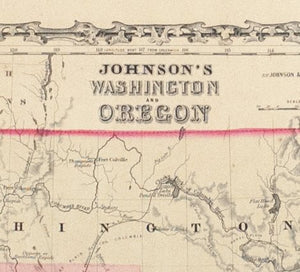 1860 Washington and Oregon - Johnson