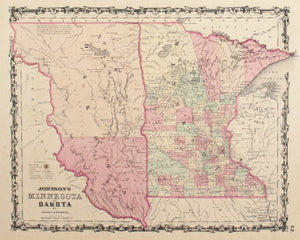 1860 Minnesota and Dakota - Johnson