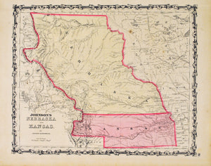 1860 Nebraska and Kansas - Johnson