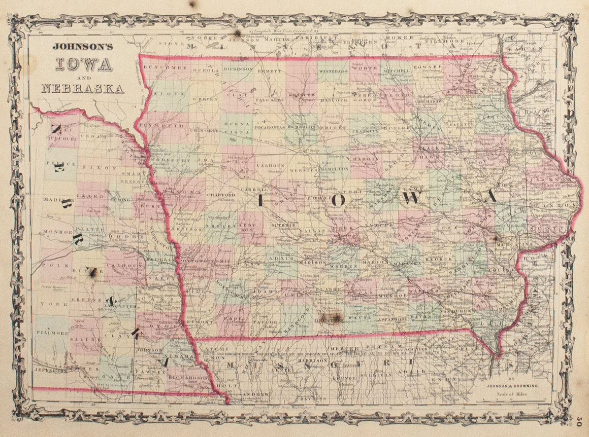 1860 Iowa and Nebraska - Johnson