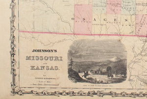 1860 Missouri and Kansas - Johnson