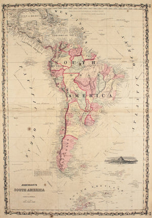 1860 South America - Johnson