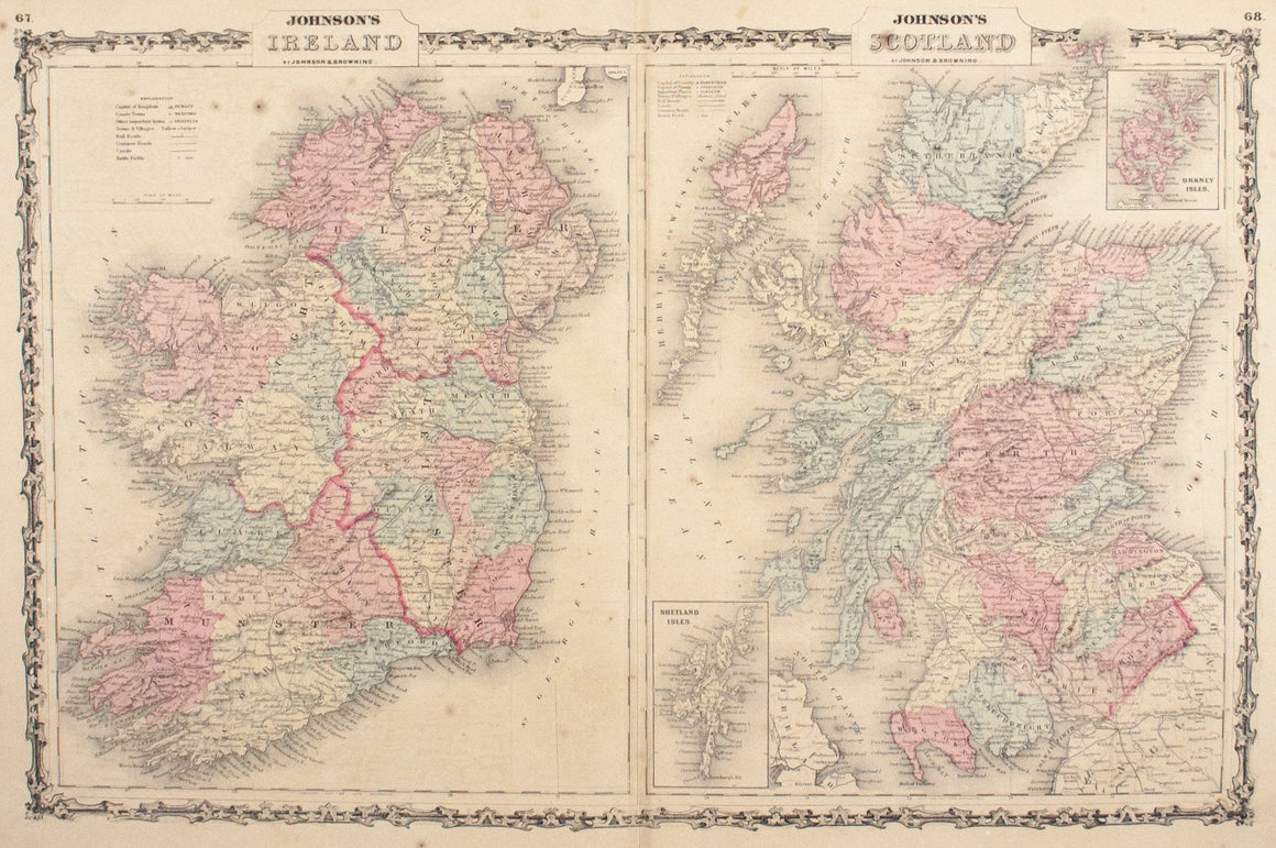 1860 Ireland and Scotland - Johnson