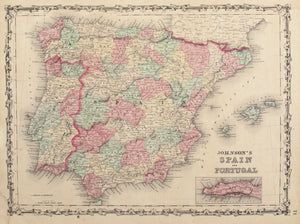 1860 Spain and Portugal - Johnson