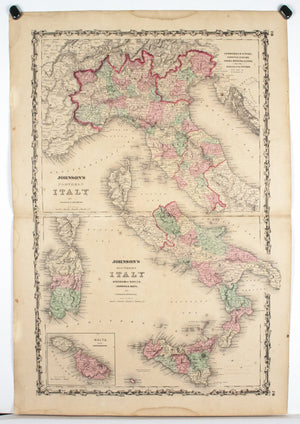 1860 Northern and Southern Italy - Johnson