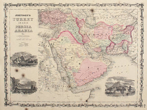 1860 Turkey in Asia, Persia Arabia Etc. - Johnson
