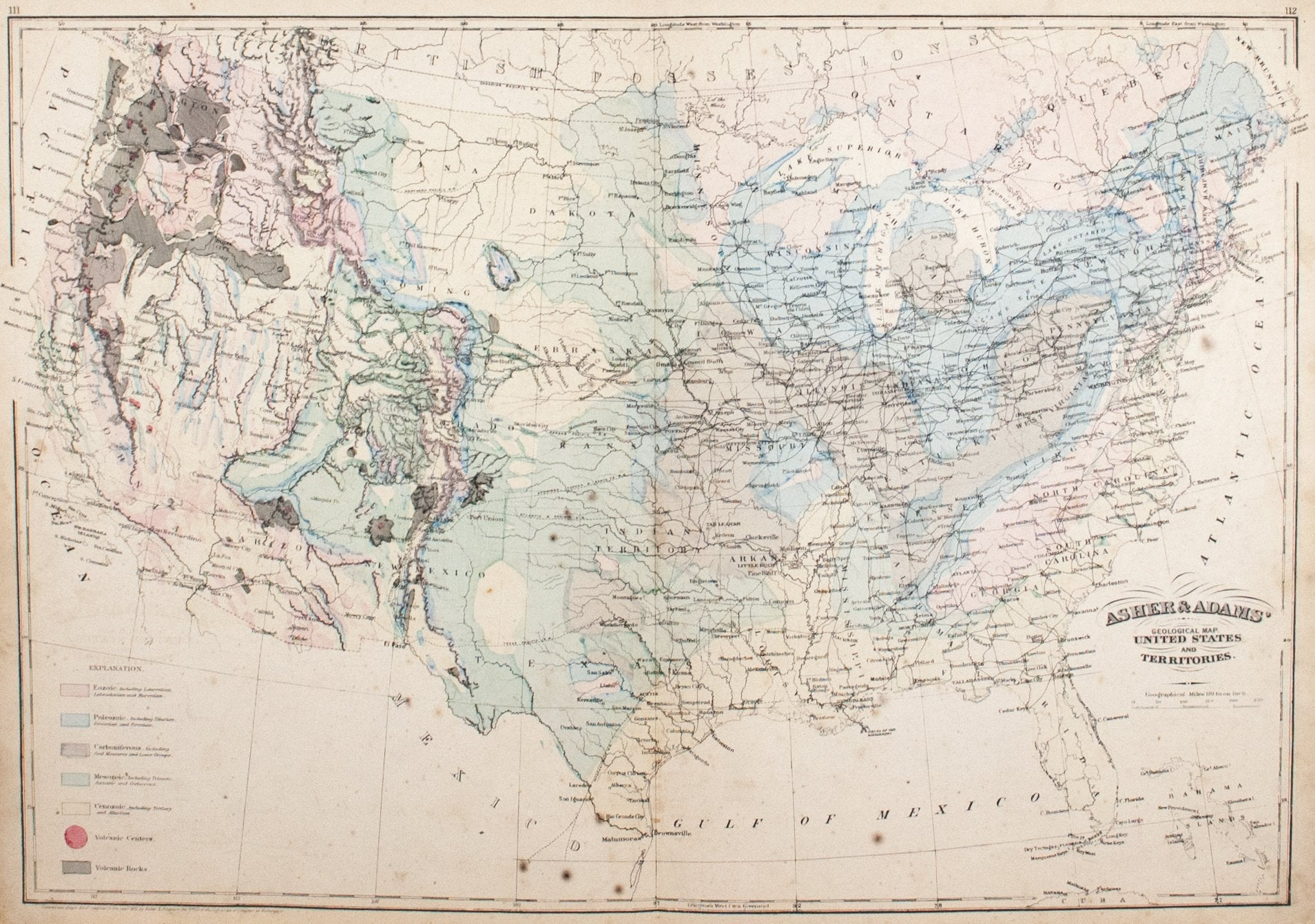 1872 Asher & Adams United States and Territories - Historic Accents