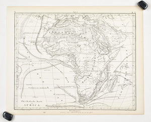 1857 Tef 5 Physical Map of Africa - JG Heck